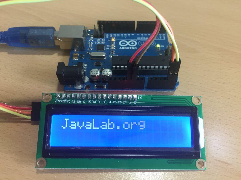 아두이노 초음파 거리측정기 (I2C LCD 사용)