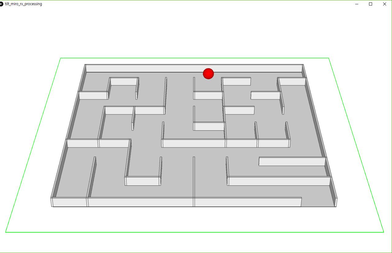 아두이노 미로게임 (MPU-6050 + 프로세싱)