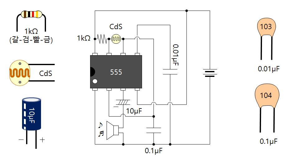 6-7 타이머 IC(555)를 이용한 사이렌