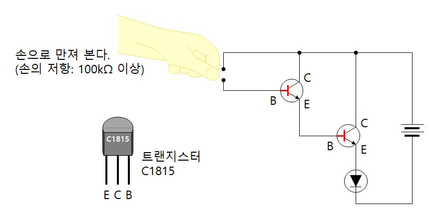 트랜지스터 터치 센서 x2