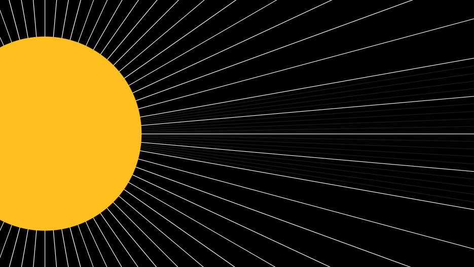 평행한 햇빛 Parallel Rays of Sun