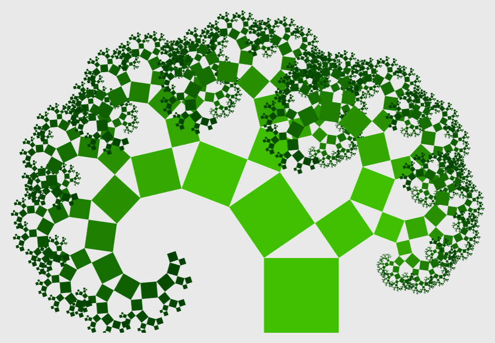 피타고라스의 나무 Pythagoras Tree