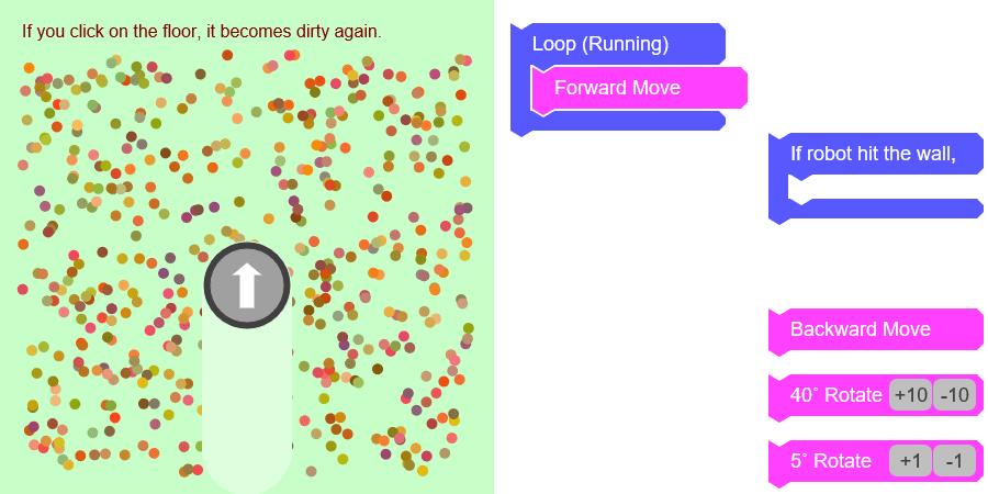 로봇 청소기 코딩 게임 Robotic Vacuum